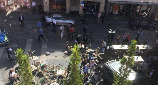 Several dead as car drives into crowd in Germany's Munster