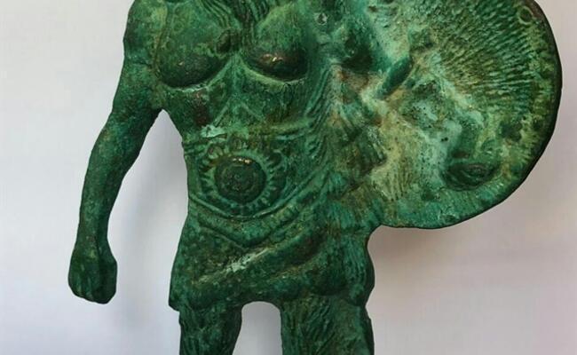 Viking warrior sculpture seized in Isparta