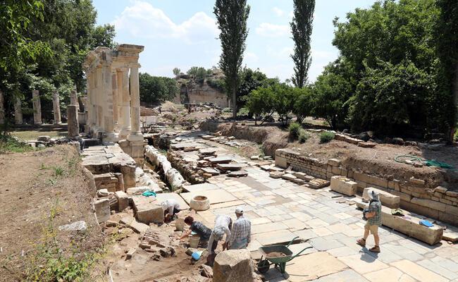 Ancient price list undergoing restoration