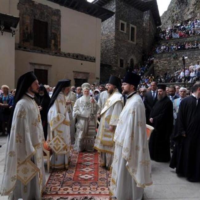 Fourth Mass held at Sümela Monastery