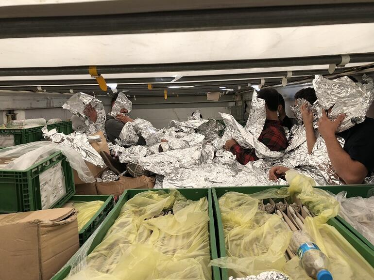 Image result for Migrants found covered in foil in truck by customs in Istanbul