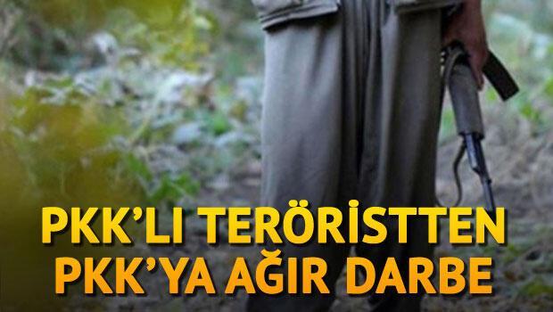PKK'lı teröristten PKK'ya son dakika darbesi