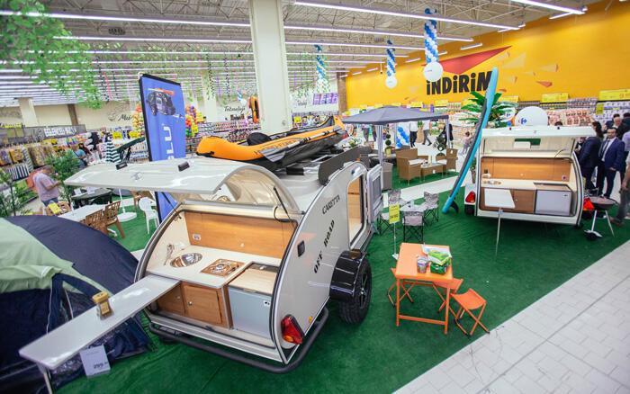 Türkiye de ilk kez markette karavan satıldı