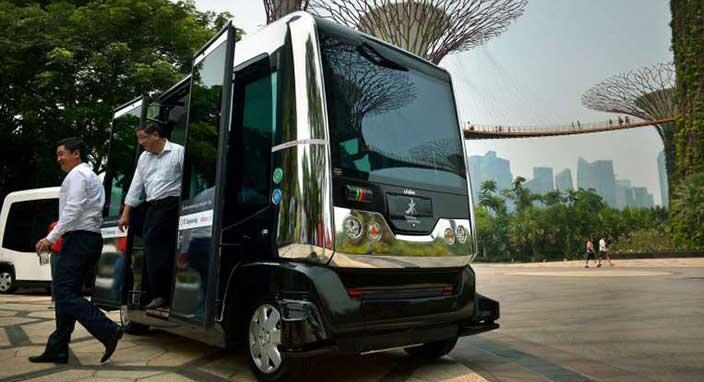 Singapur sürücüsüz otobüsleri için tarih verdi