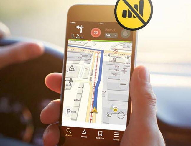 Yandex'te internetsiz navigasyon dönemi