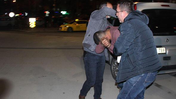 Önce dövdüler sonra polise teslim ettiler