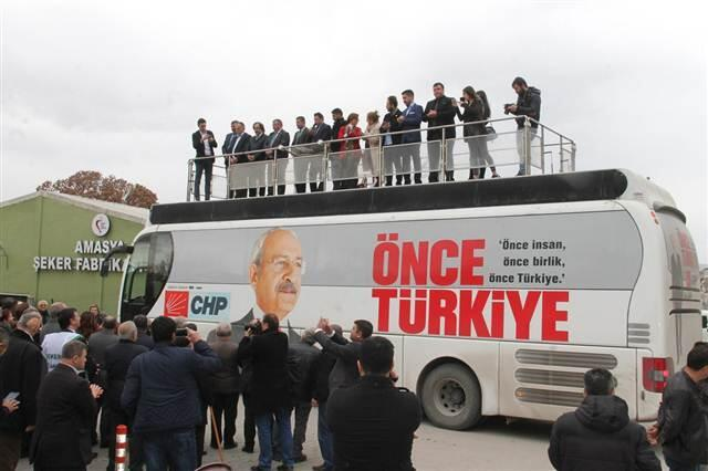 Suluova'da hizmet veren Amasya Şeker Fabrikası önünde konuşan CHP Genel