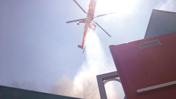 Silivri'de bir fabrikada 4 Haziran 2015'te yangın çıktı. Yangına müdahale