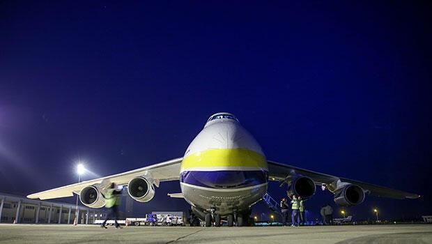 Haberin diğer fotoğrafları için tıklayınDÜNYANIN en büyük uçaklarından biri olan