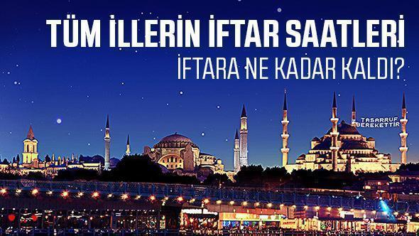 Diyanet İşleri Başkanlığı tarafından yayımlanan 2018 Ramazan imsakiyesiyle birlikte İstanbul,