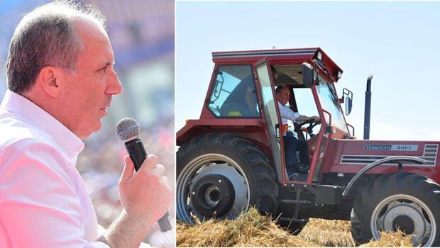 CHP'nin Cumhurbaşkanı adayı Muharrem İnce, dün gece geldiği Adana'dan, miting