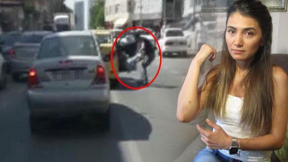 Taksici aşağıya atılan genç kadın dehşet anlarını anlattı