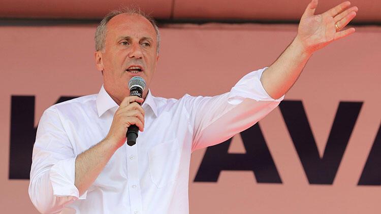 CHP`nin cumhurbaşkanı adayı Muharrem İnce, Düzce`de düzenlenen mitingde halka seslendi.