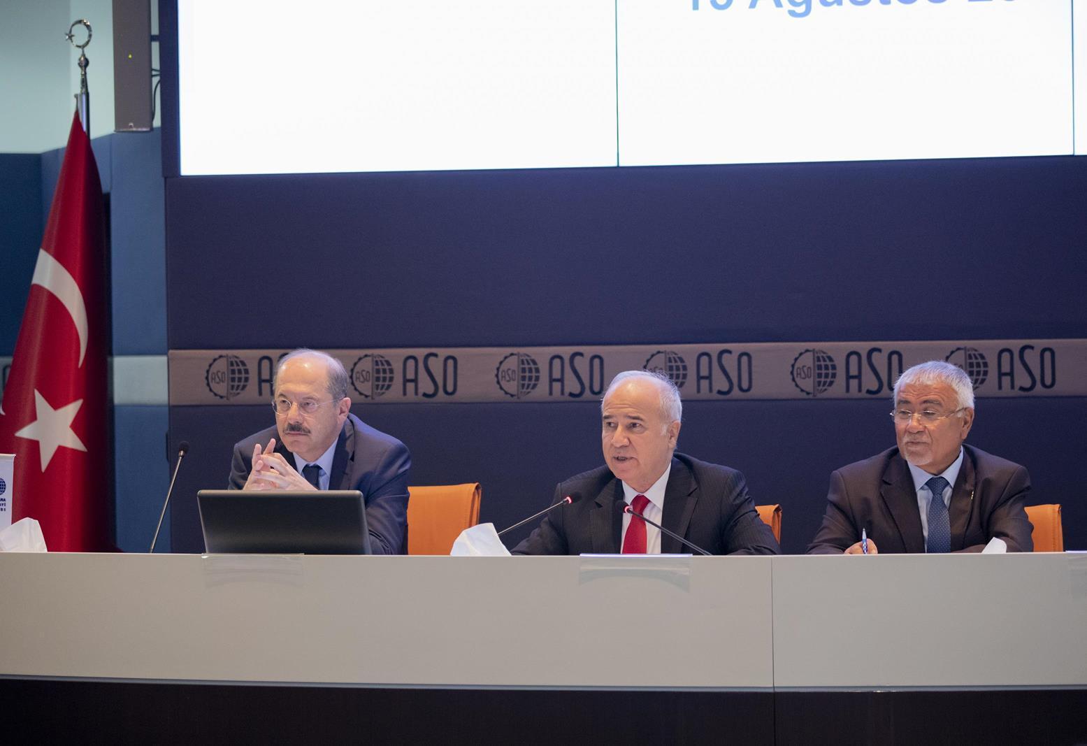 Özdebir, ASO`nun ağustos ayı meclis toplantısında, ekonomideki spekülatif ataklara karşı