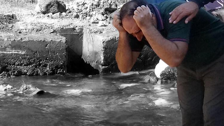500'lük içme suyu borusuna düşen işçi bulundu