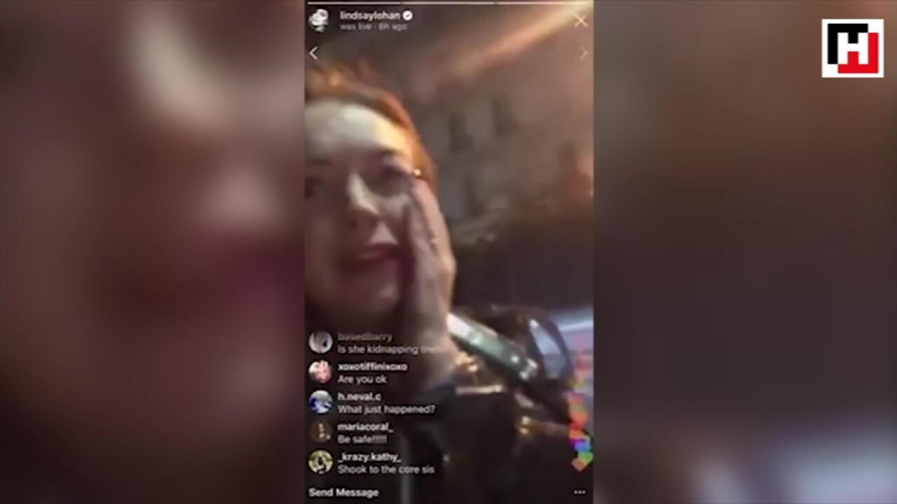 Lindsay Lohana mülteci aileden yumruk