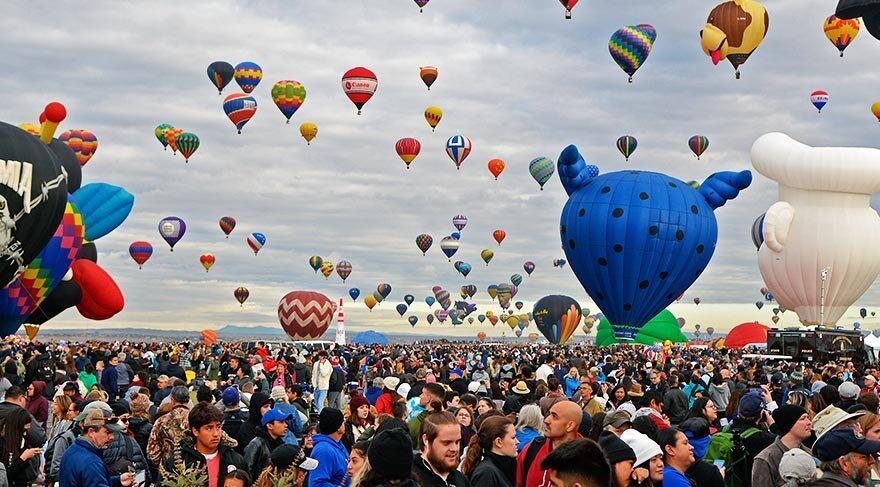 Dünyanın en büyük balon festivali Albuquerque