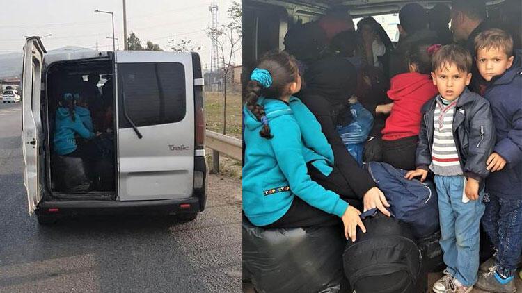 İzmir'de 32 düzensiz göçmen yakalandı