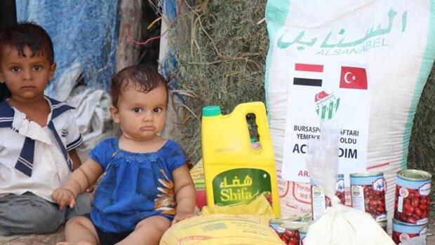Bursasporlu taraftarların yardımları Yemen'e ulaştı