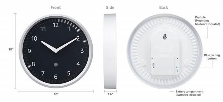 Amazon bu kez akıllı duvar saatiyle geldi
