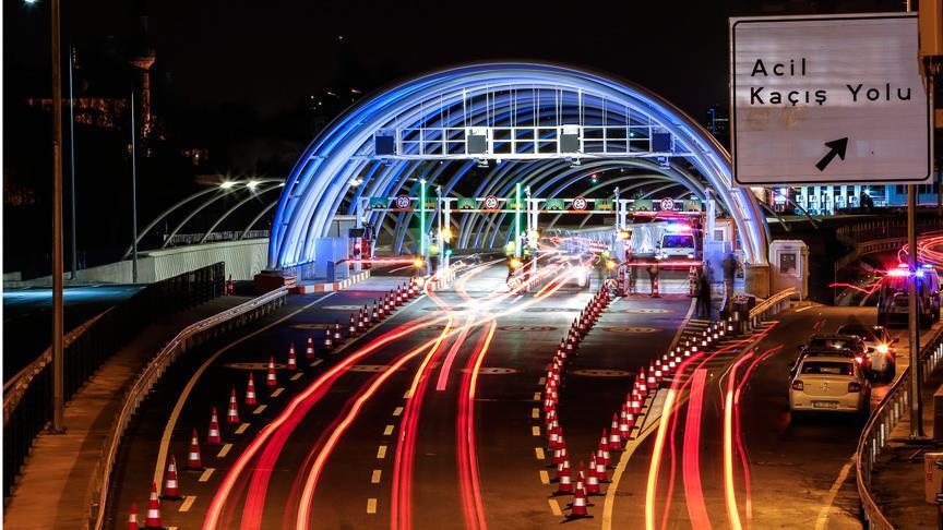 Avrasya Tüneli'nden 2018 yılında 17,5 milyon araç geçti
