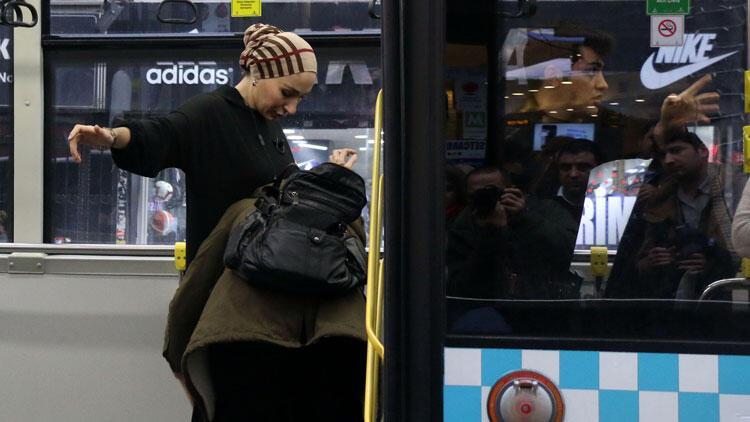 Şişli'de halk otobüsünde hırsız alarmı 'Ayakkabıma kadar çıkardım'
