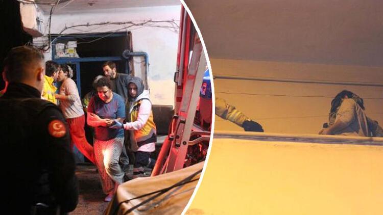 Şişli'de panik anları! Yangında balkonda mahsur kalanları itfaiye kurtardı