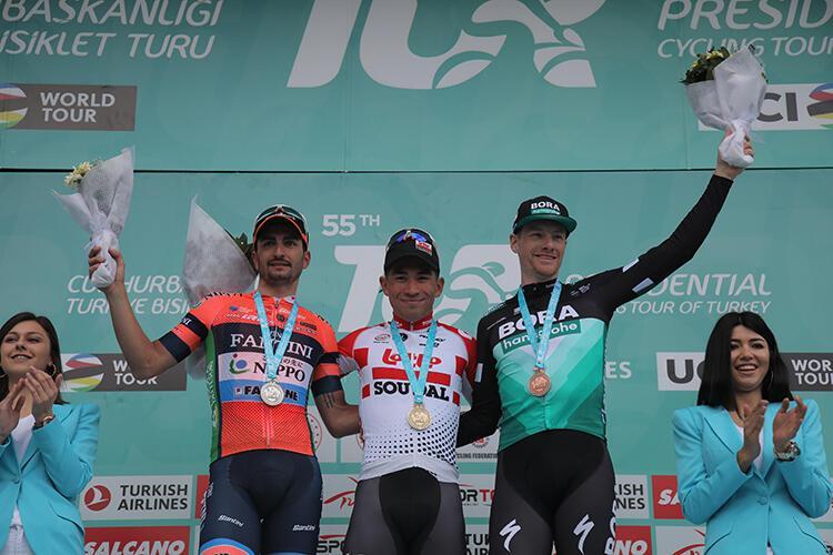 55. Cumhurbaşkanlığı Türkiye Bisiklet Turu 4. etabını Caleb Ewan kazandı
