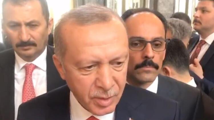 Son dakika: Erdoğan, HDP Eş Genel Başkanı kürsüye çıkınca özel oturumdan ayrıldı