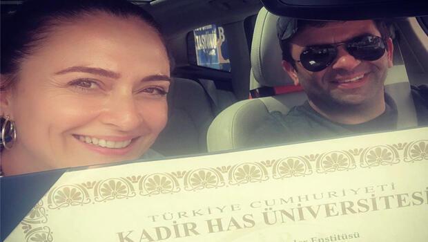 Ceyda Düvenci'nin büyük heyecanı! 'Diplomama kavuştum'