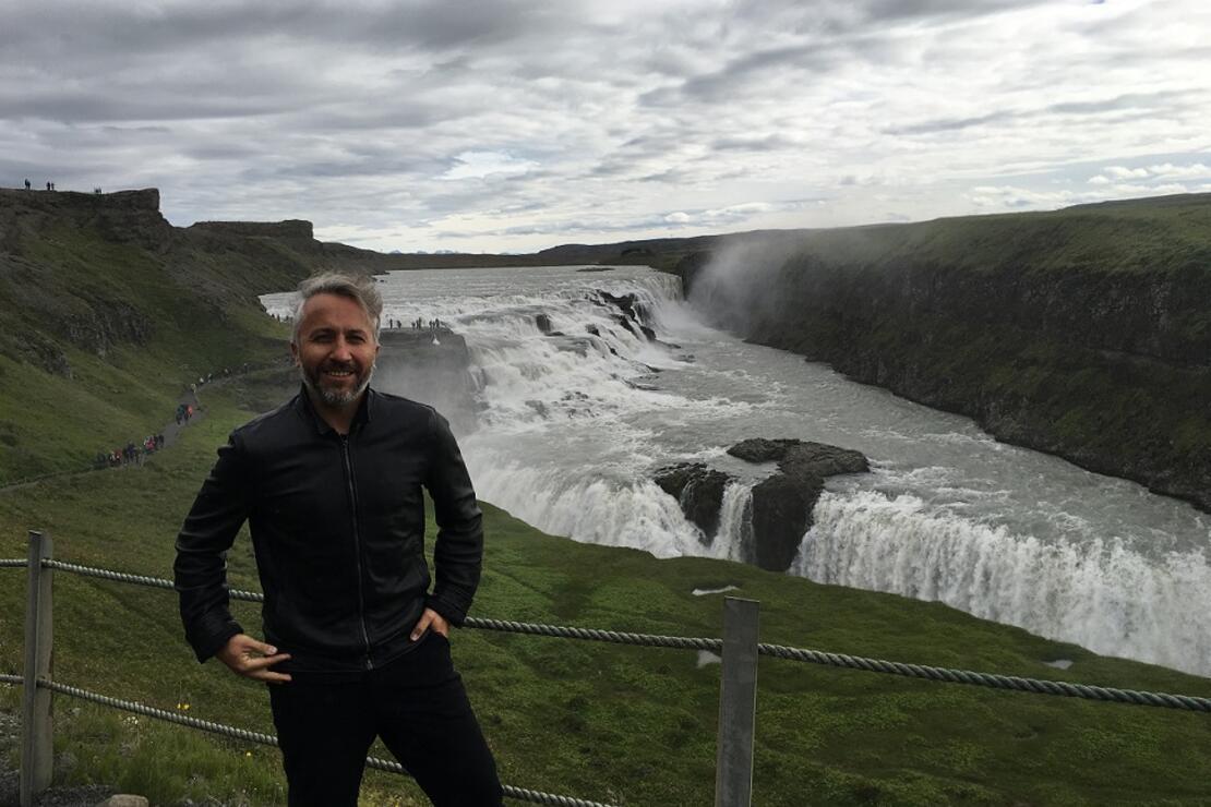 İzlandada ülkenin markası olarak yanardağ