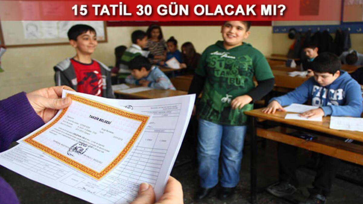 MEB açıkladı 15 Tatil ne zaman bitecek Okullar ne zaman açılacak 38