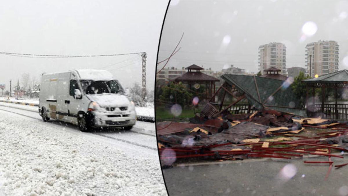 Antalya Haberleri: Antalyanın doğusunda fırtına ve kar 90