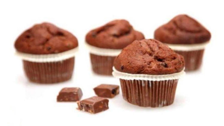 Kakaolu Bitter Çikolatalı Muffin