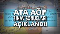 Atatürk Üniversitesi (ATA AÖF) sınav sonuçları açıklandı! | ATA AÖF Bütünleme ne zaman?