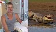 Sevdiği kızı etkilemek için timsaha yumruk attı Sonuç beklediği gibi olmadı