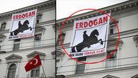 Büyükelçiliğimize çirkin saldırı Bu pankartı astılar