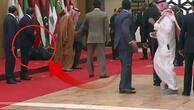 Lübnan Cumhurbaşkanı fena kapaklandı