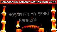 Ramazan ayı ne zaman başlıyor Oruç ne zaman tutulur