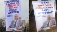 Kayseride Erbakan afişleriyle evet- hayır yarışı