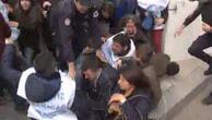 Ankaradaki oturma eylemine polis müdahalesi
