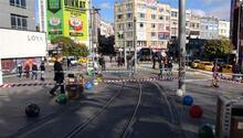 Kadıköy'ün ünlü meydanı güne yıkımla uyandı