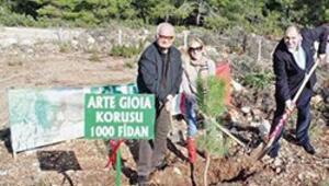 Arte Gioia'dan doğaya bin fidan