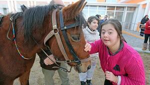 Otizmli öğrencilere atla terapi