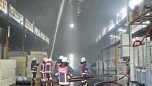 Döküm fabrikasında korkutan yangın