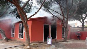 Maltepede kütüphane yandı