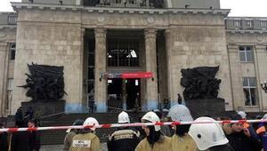 Rusyada tren istasyonunda kara dul saldırısı
