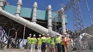 Dev santralde üretim başladı