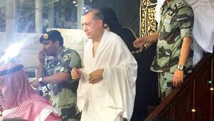 Cumhurbaşkanı Erdoğan ve heyeti için Kabe'nin kapısı açıldı