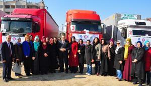 Bayırbucak Türkmenlerine 14 TIR dolusu yardım
